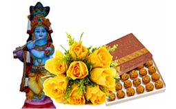 Special Gift With Lord Krishna Idol